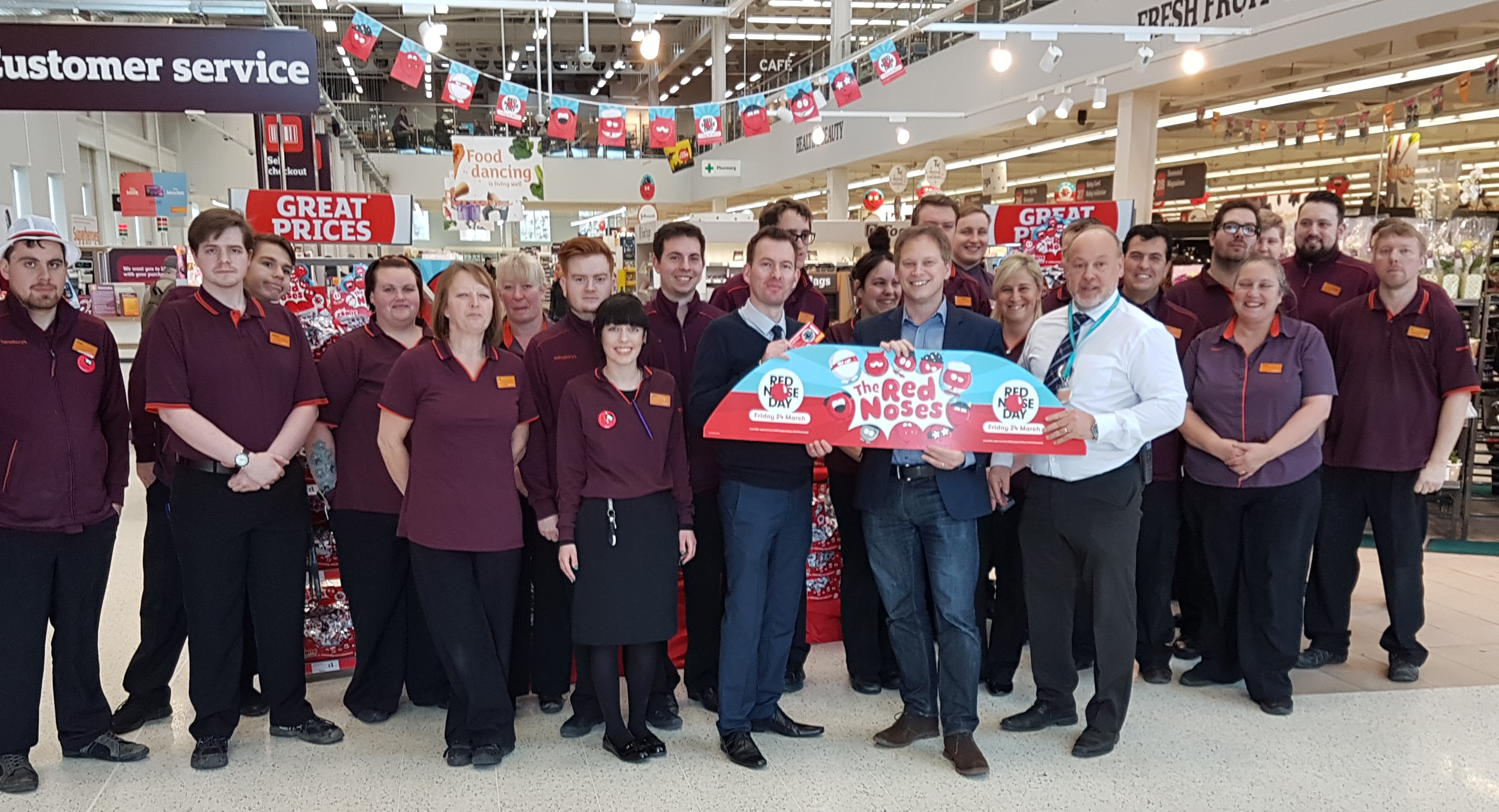 MP visits Sainsbury's in WGC to hear of Comic Relief plans