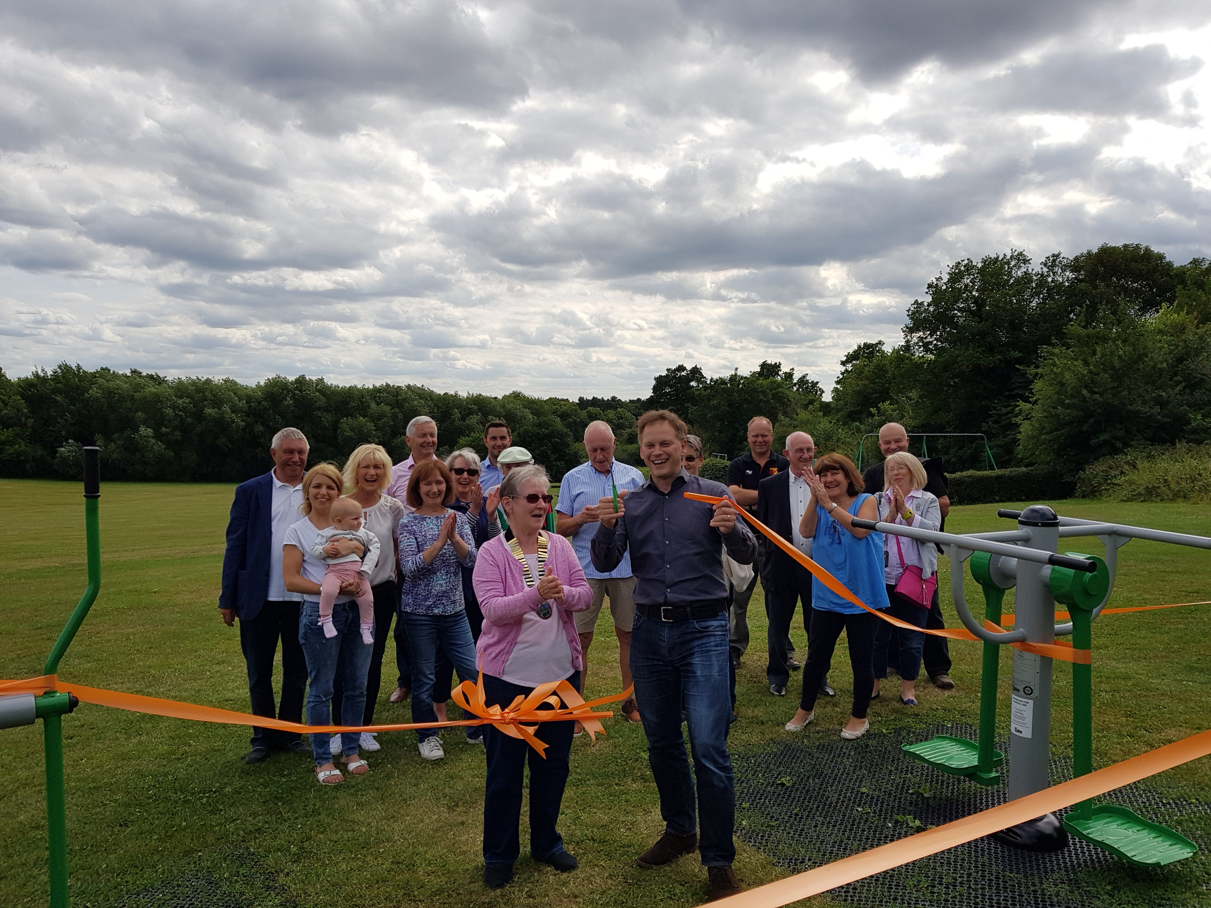 Grant opens new equipment at Gobions
