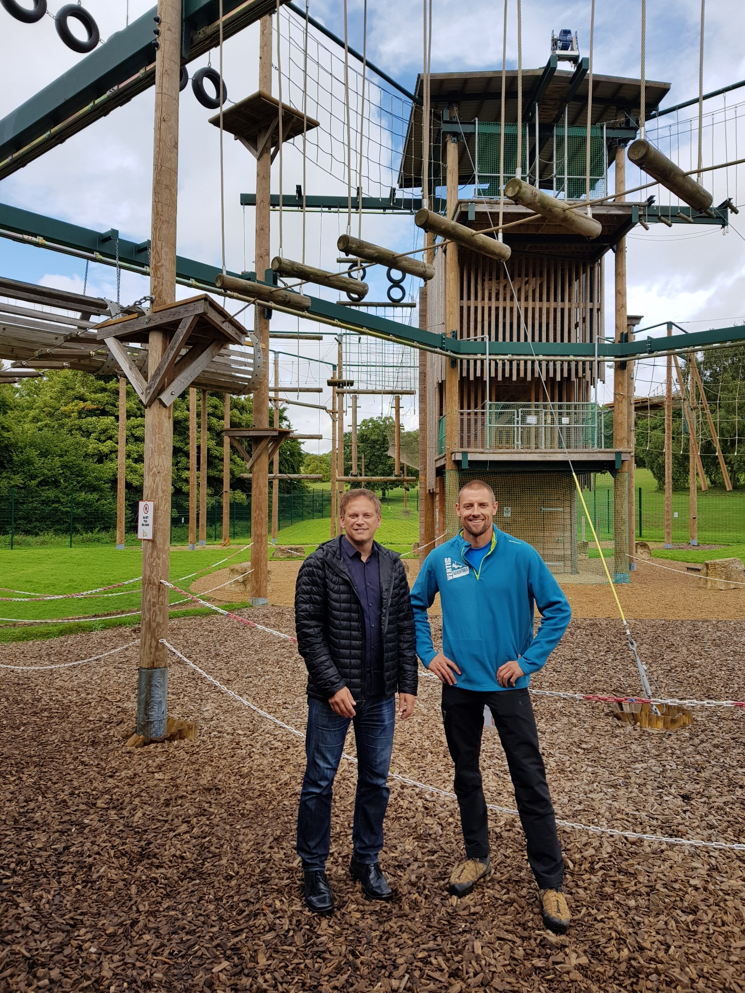 Grant visits Vertigo Adventures at Stanborough Park