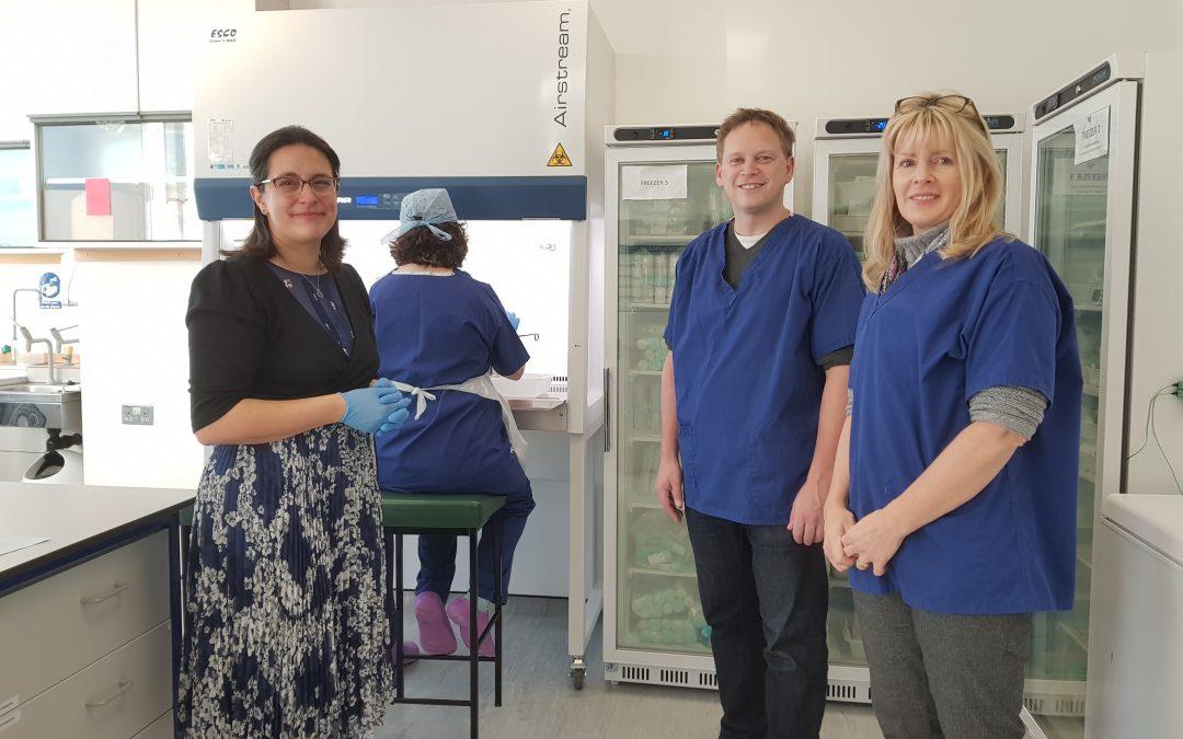 Welwyn Hatfield MP visits Hearts Milk Bank