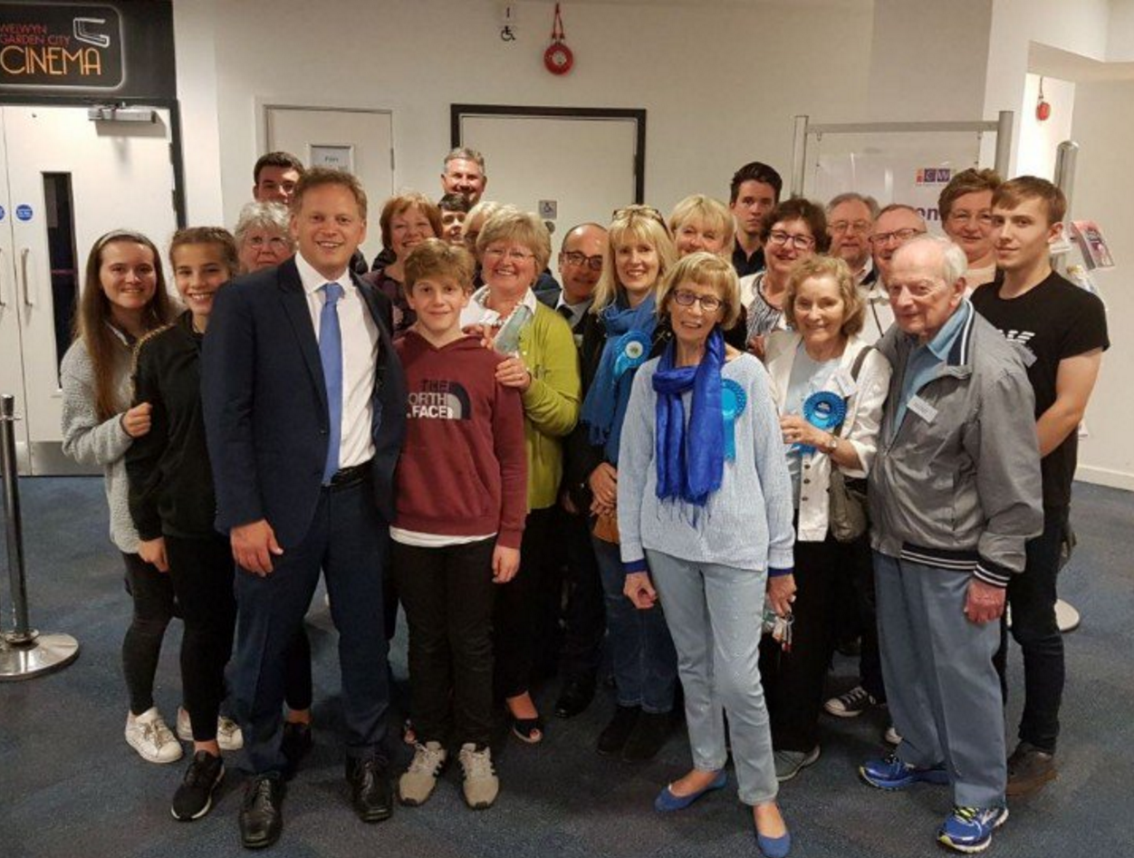Grant Shapps re-elected for Welwyn Hatfield