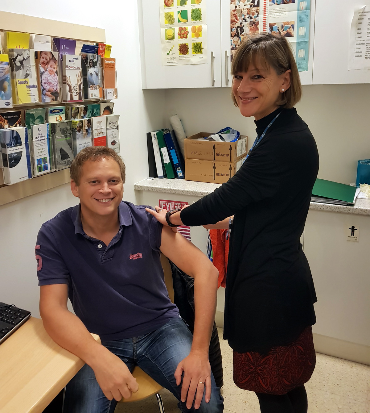 Welwyn Hatfield MP gets his flu vaccination and encourages others to do the same