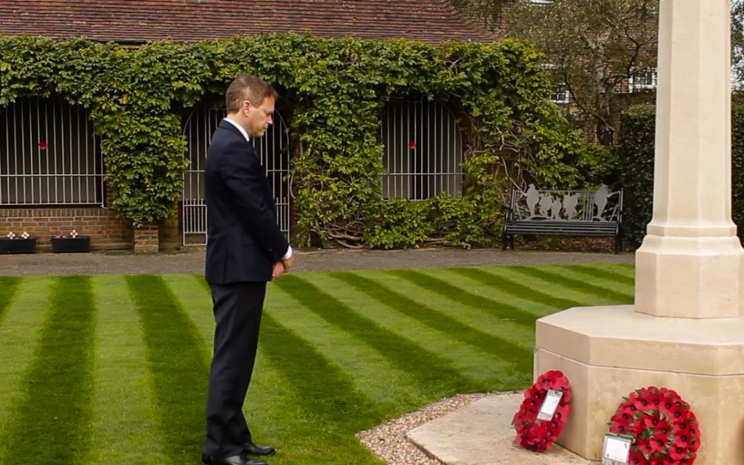 'Remembrance As Vital As Ever' Says Grant Shapps MP